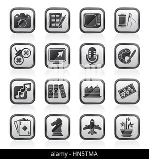 Hobbies and leisure Icons - Stock Photo