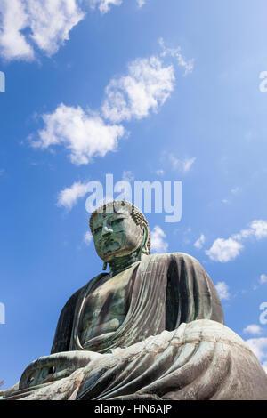 Kamakura, Japan- May 23, 2012: The Daibutsu Great Buddha at Kotoku-in temple in Kamakura, Kanagawa prefecture, Japan. - Stock Photo