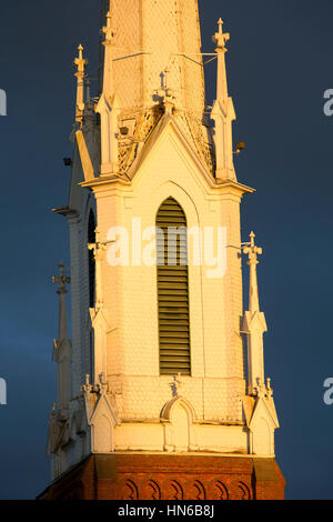 Church steeple, Salem, Oregon - Stock Photo