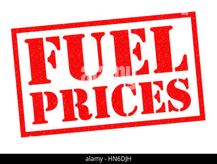 FUEL PRICES red Rubber Stamp over a white background. - Stock Photo
