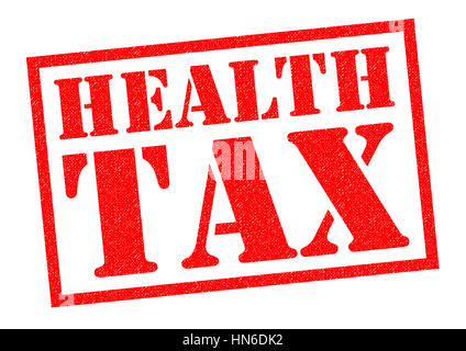 HEALTH TAX red Rubber Stamp over a white background. - Stock Photo