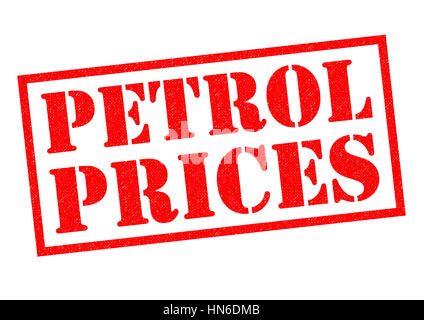 PETROL PRICES red Rubber Stamp over a white background. - Stock Photo
