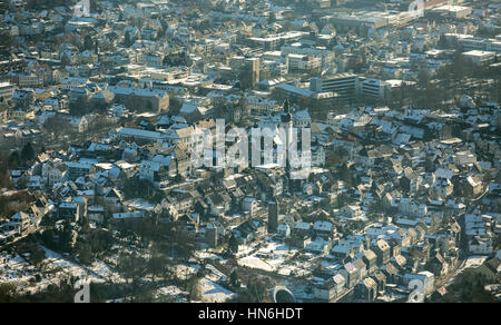 View on old town in winter, Arnsberg, Sauerland, North Rhine-Westphalia, Germany - Stock Photo