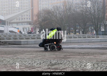 electric wheel chair Berlin Germany - Stock Photo