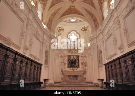 Perspective of the Padula Charterhouse. Campania. Italy. - Stock Photo