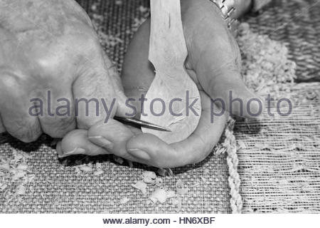 Handcrafted Shepherds Cane  and a Wooden Spoon - Stock Photo