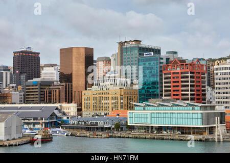 Meridian Energy Building, Wellington, New Zealand - Stock Photo