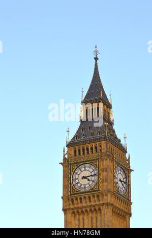 Big Ben clock face - Stock Photo