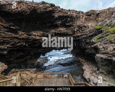 Admirals Arch, Flinders Chase National Park, Kangaroo Island, South Australia - Stock Photo