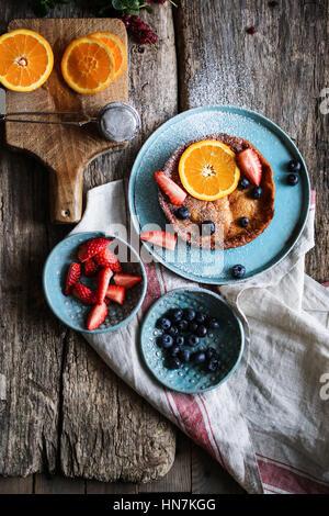 Baby dutch pancake - Stock Photo