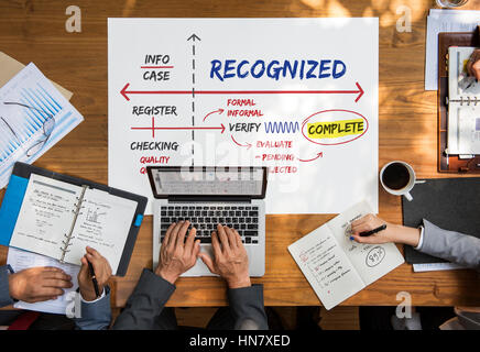 Affirmed Authorized Certified Guaranteed Concept - Stock Photo