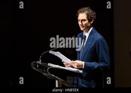Turin, Piedmont, Italy. 9th Feb, 2017.  John Elkann during the Celebration of 150 years of La Stampa at Auditorium - Stock Photo