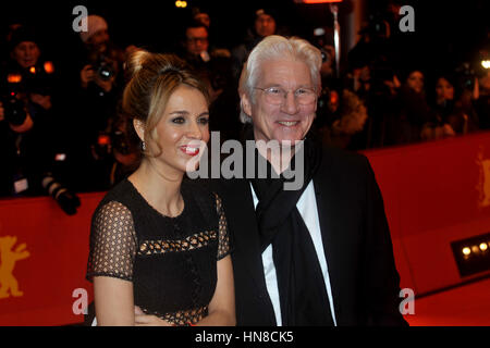 Berlin, Germany, 10 february 2017. Actor Richard Gere attends the 'The Dinner' premiere during the 67th Berlinale - Stock Photo