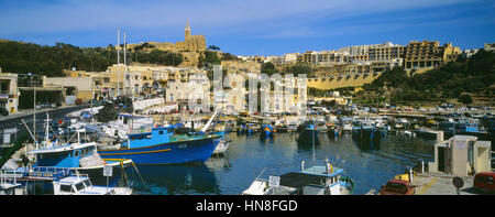 Mġarr harbour. Gozo. Malta. - Stock Photo