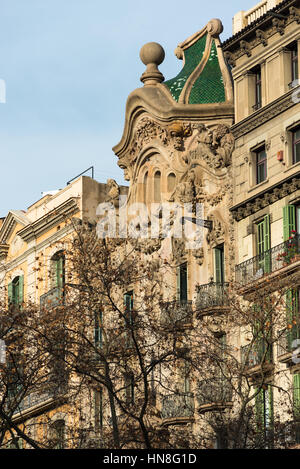 Modernist architecture on Diagonal Avenue, Barcelona, Spain - Stock Photo