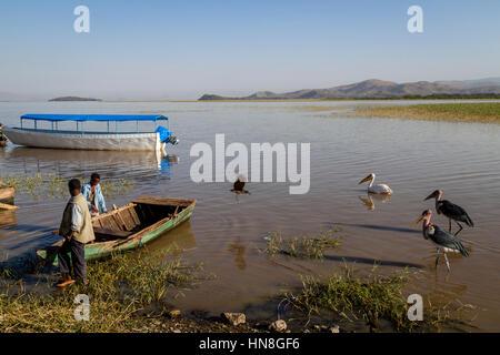 Lake Ziway, Ethiopian Rift Valley, Ethiopia - Stock Photo