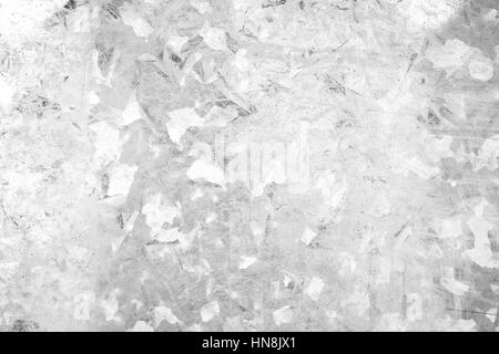 Close-up of a galvanized gray zinc plate texture background in black&white. - Stock Photo