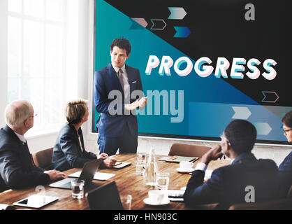 Strategy Progress Efficiency Teamwork Concept - Stock Photo