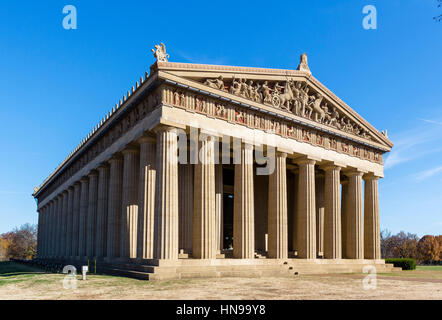 Parthenon, Centennial Park, Nashville,Tennessee, USA. The Parthenon was built in 1897 for the Tennessee Centennial Exposition. Stock Photo