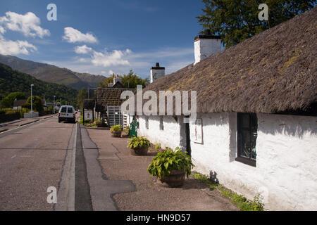 Glencoe and North Lorn Folk Museum Glen coe village Argyll Highalnds Scotland GB UK EU Europe - Stock Photo