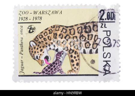 UZHGOROD, UKRAINE - CIRCA MAY, 2016: Collection of postage stamp - Stock Photo