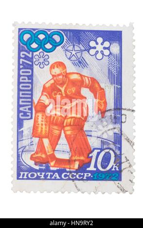 USSR - CIRCA 1972: stamp printed in Russia shows Olympic  - Stock Photo