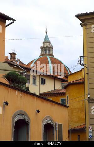 Dome of Basilica of Our Lady of Humility - View from Piazza dello Spirito Santo - Pistoia (Italian Capital of Culture - Stock Photo