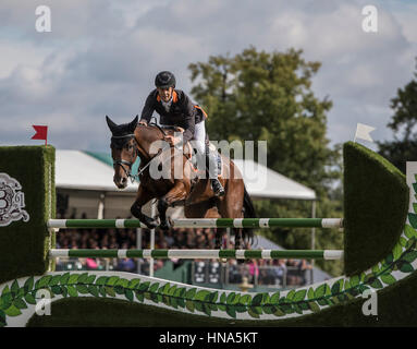 NOBILIS 18 (AUS) ridden by Christopher Burton on 04.09.2016. Burghley House, Burghley, England. Land Rover Burghley - Stock Photo