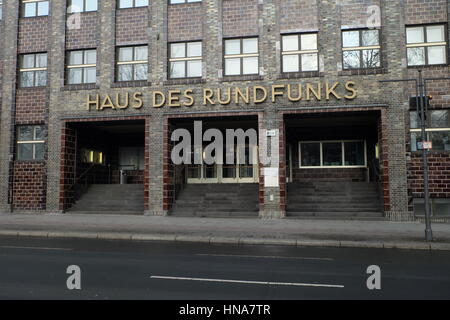 Haus des Rundfunks -Offices and studios for radio station built in late 1920's early 30's to a plan by architect - Stock Photo