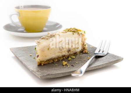 Halva Cheese Cake and tea anyone - Stock Photo