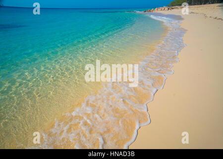 Governor's Beach, Columbus Landfall National Park, Grand Turk Island, Turks and Caicos, Caribbean Sea, Atlantic - Stock Photo