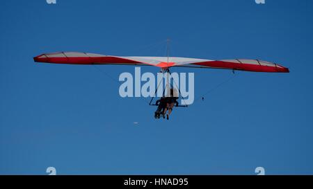 Hand gliding off Peña Branca in Rio de Janeiro - Stock Photo