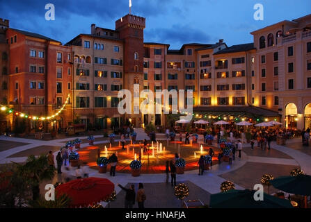 Hotel Colosseo im Europapark, Freiburg, Deutschland - Hotel Colosseo in Europa Park, Freiburg, Germany - Stock Photo