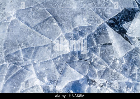 Closeup of Shattered Ice - Stock Photo