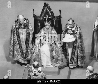QUEEN ELIZABETH II ROYAL FAMILY QUEEN OF ENGLAND (1953) - Stock Photo