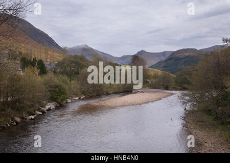 Mountains of Glen coe, Scotland, UK - Stock Photo