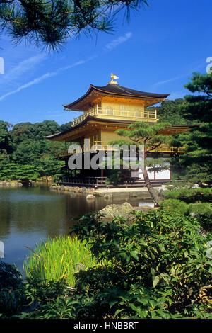 Kinkakuji temple,golden Pavilion,UNESCO World Heritage Site,Kyoto, Japan - Stock Photo