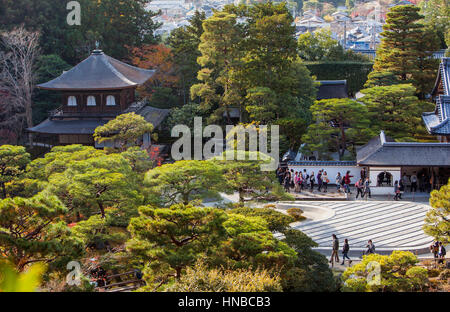 Ginkaku ji temple, Kyoto, Kansai, Japan - Stock Photo