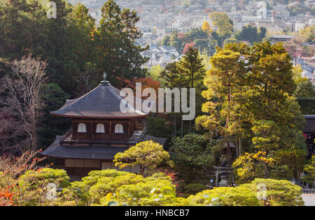Silver Pavilion, Ginkaku ji temple, Kyoto, Kansai, Japan - Stock Photo