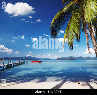Tropical island, somewhere in Thailand - Stock Photo