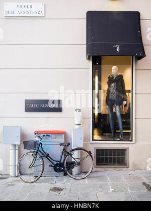 Trussardi clothing Store, Parma Italy - Stock Photo