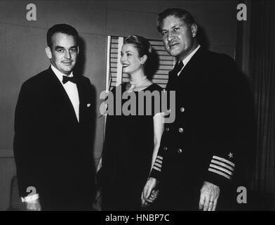 PRINCE RAINIER III & GRACE KELLY  01 June 1958 - Stock Photo