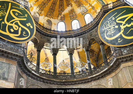 Istanbul, Turkey - August 22,2013: Interior of Hagia Sofia on Agoust 20, 2013 in Istanbul, Turkey. Hagia Sophia - Stock Photo