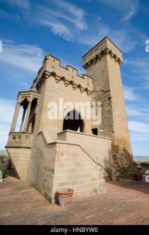 Famous Olite castle in Navarra, Spain. - Stock Photo