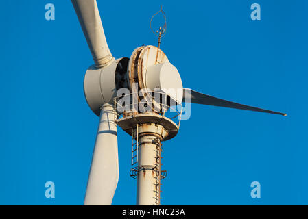 Detail of severe corrosion on windmill turbine located near the sea. - Stock Photo