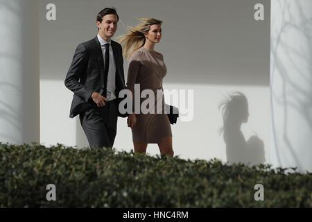 White House Senior Advisor to the President for Strategic Planning Jared Kushner (L) and his wife and President - Stock Photo