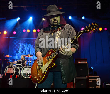 Pompano Beach FL, USA. 10th Feb, 2017. Lynyrd Skynyrd performs at The Pompano Beach Amphitheater on February 10, - Stock Photo