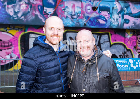 Belfast, UK. 11th Feb, 2017. Belfast 11th Frbruary 2017. Ginger haired people gathered in belfast to take part in - Stock Photo