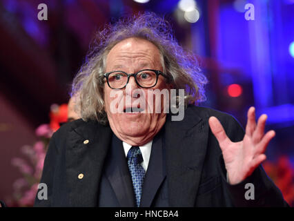 Berlin, Germany. 11th Feb, 2017. Australian actor Geoffrey Rush on arrival at the premiere of US film 'Final Portrait' - Stock Photo
