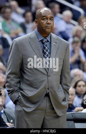 Washington, DC, USA. 11th Feb, 2017. 20170211 - Georgetown head coach JOHN THOMPSON III is seen during the first - Stock Photo